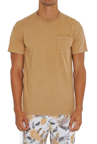 WISHY WASHY SHORT SLEEVE TEE - CAMEL