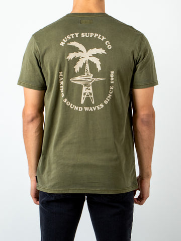 WATER WOES SHORT SLEEVE TEE - GUN GREEN
