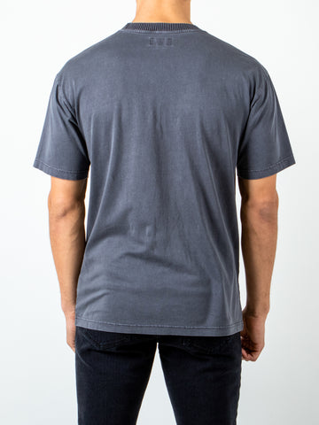 RIB EYE SHORT SLEEVE TEE - COAL