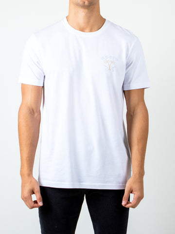 TWO STEP SHORT SLEEVE TEE - WHITE