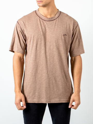CRAFTED SHORT SLEEVE TEE - LATTE