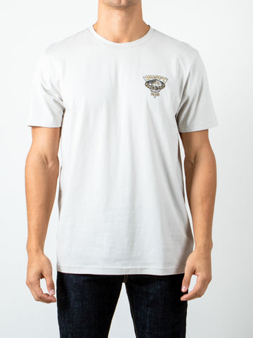 SURF WARS SHORT SLEEVE TEE - COOL GREY