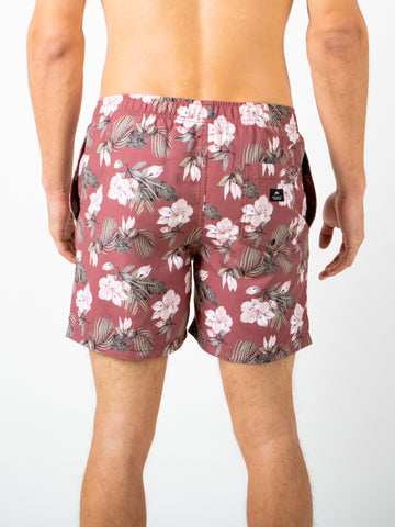 "DEL MAR 17"" ELASTIC BOARDSHORT - SIENNA TROPICAL"