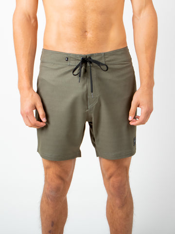 "COMPETITION 17"" BOARDSHORT - ARMY GREEN"