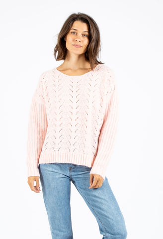 PALOMA KNIT SWEATER - SHELL PINK