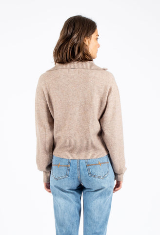 PERRY KNIT SWEATER - CARAMEL