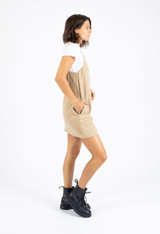 RUNDOWN MINI DRESS - SAFARI