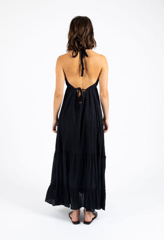 CHOPPER MAXI DRESS - BLACK