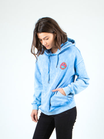 ANYA HOODED FLEECE - BABY BLUE