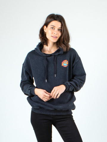 ANYA HOODED FLEECE - BLACK WASH