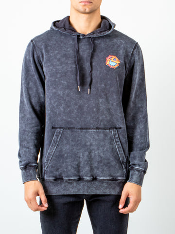 DIVERS HOODED FLEECE - BLACK WASH
