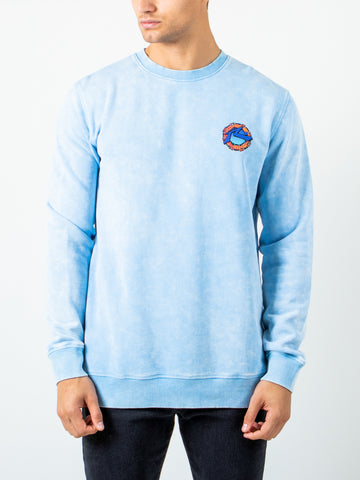 OCEANSIDE CREW FLEECE - ALASKAN BLUE