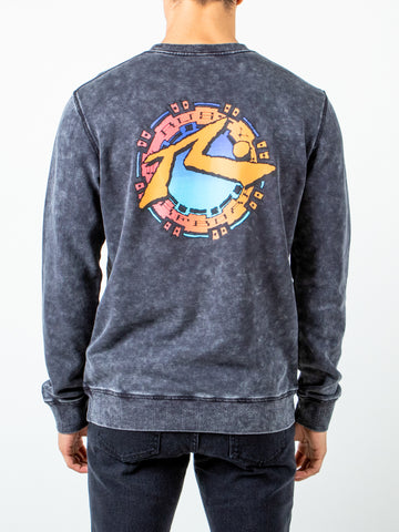 OCEANSIDE CREW FLEECE - BLACK WASH