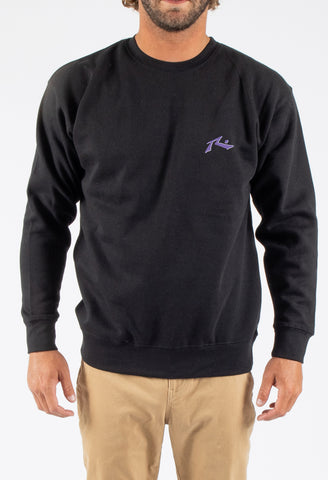ROAD HOUSE CREW NECK FLEECE - BLACK