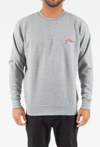 ROAD HOUSE CREW NECK FLEECE - CARBON GREY
