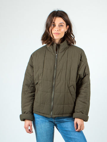 COASTAL QUILTED JACKET - OLIVE