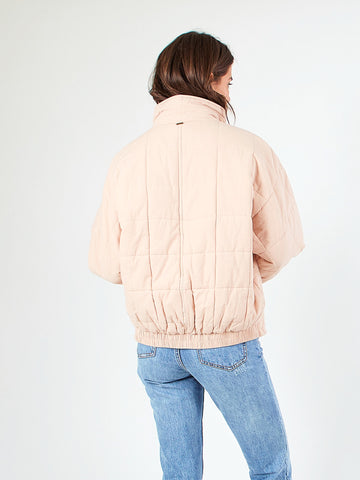 COASTAL QUILTED JACKET - PASTEL ROSE