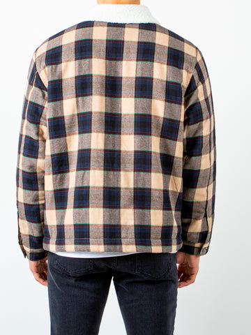 ROAD FLANNEL JACKET - MUSTARD PLAID