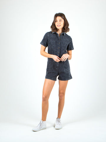 REGARDLESS PLAYSUIT - BLACK