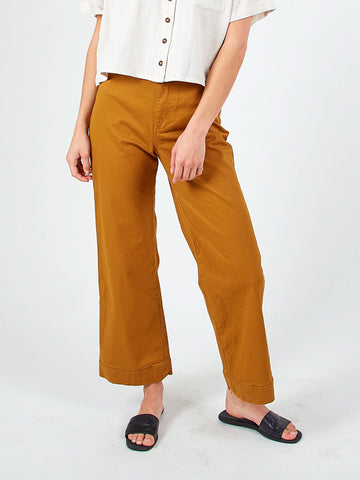 HERITAGE FLARE CROP PANTS - CAMEL
