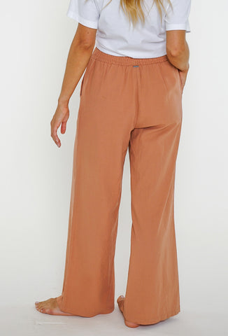 WANDERER BEACH PANT - DUSTY PEACH