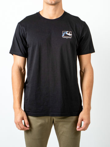 WAVES SHORT SLEEVE TEE - BLACK