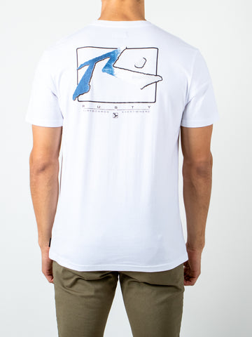 WAVES SHORT SLEEVE TEE - WHITE