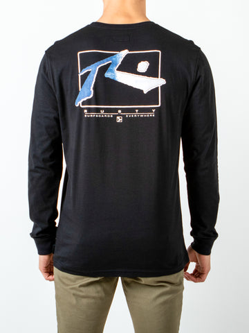 ISLAND LONG SLEEVE TEE - BLACK