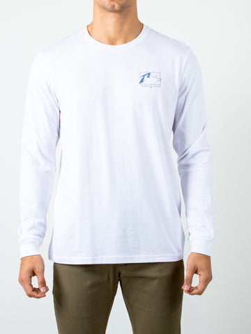 ISLAND LONG SLEEVE TEE - WHITE