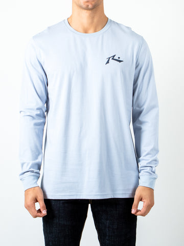 COMPETITION LONG SLEEVE TEE - BLUE FOG