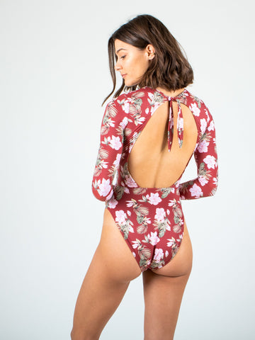 AMBER LONG SLEEVE PADDLESUIT - SIENNA TROPICAL