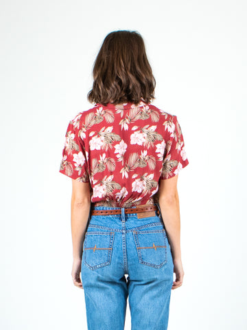 SEAPORT CROP TOP - SIENNA TROPICAL