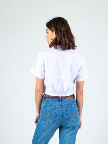 SEAPORT CROP TOP - WHITE