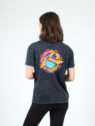 SUNSET SHORT SLEEVE TEE - BLACK WASH