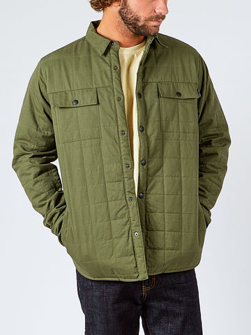 RANCH QUILTED LONG SLEEVE SHIRT - ARMY GREEN