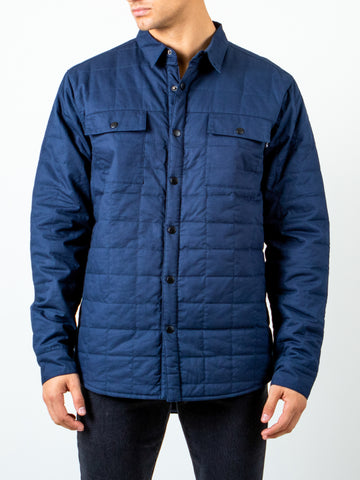 RANCH QUILTED LONG SLEEVE SHIRT - TRUE NAVY