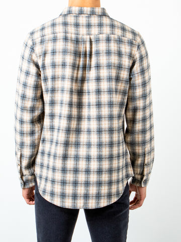 GUNSTOCK LONG SLEEVE FLANNEL SHIRT - ICE PLAID