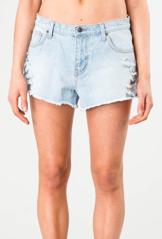 WONDER 2 DENIM SHORT - BONE BLUE