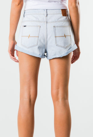 SOMEDAY DENIM SHORT - SALT BLUE
