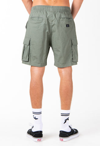 LOST CARGO ELASTIC SHORT - ARMY