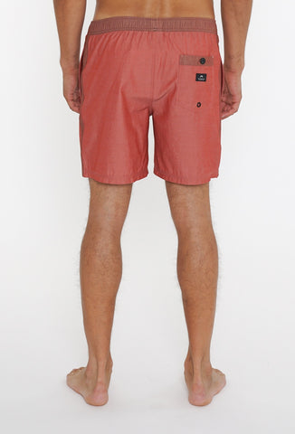 MOMENTO ELASTIC BOARDSHORT - RED BRICK