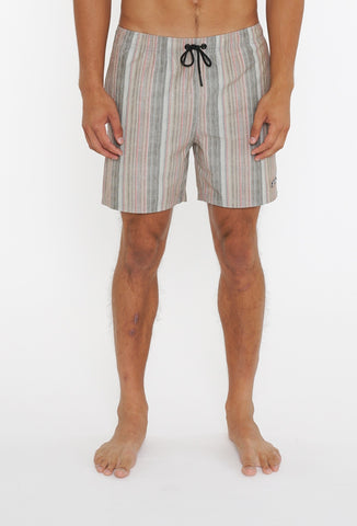 KNITTED BLISS ELASTIC BOARDSHORT - FEATHER GREY
