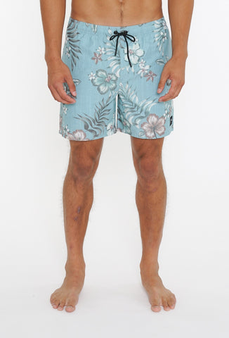 TOUGH TITTY ELASTIC BOARDSHORT - BLUE FOG