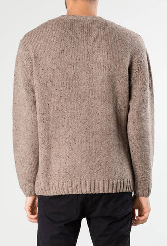 AGNUS CREW NECK KNIT - GREY MARLE