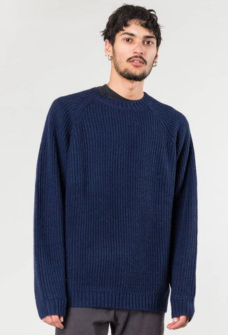 COPPA CREW NECK KNIT - BLUE GRAPHITE