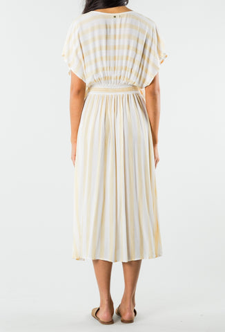 CROWNS MIDI DRESS - HONEY