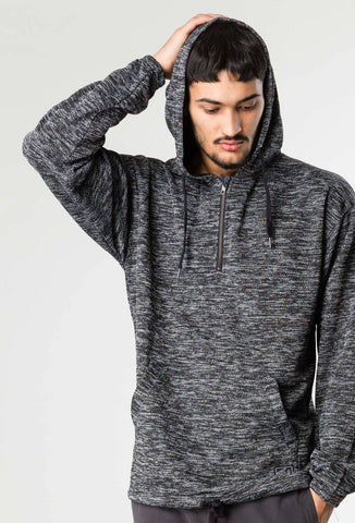 FLUFFY DICE HOODED FLEECE - BLACK