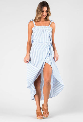 WATERFALL MAXI SKIRT - STILLWATER