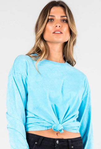 NEON BC LONG SLEEVE TEE - BLUE FISH