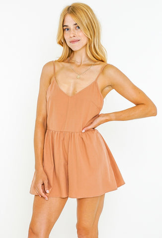 WANDERER PLAYSUIT - DUSTY PEACH